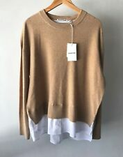 Country Road CR Love Sz XL Shirt Tail Crew Neck in Camel 16 XL