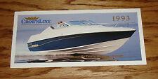 Original 1993 Crownline Boat Full Line Foldout Sales Brochure 93
