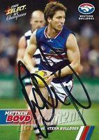 ✺Signed✺ 2008 WESTERN BULLDOGS AFL Card MATTHEW BOYD
