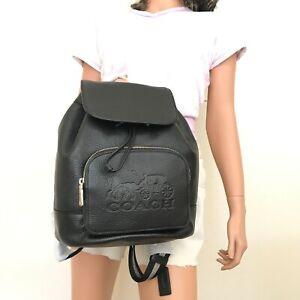 NWT Coach Jes Backpack Shoulder Bag Black Leather 90399