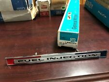 1965 Corvette Fuel Injection Emblem NOS GM OEM ORIGINAL 3857572 65 C2 STINGRAY