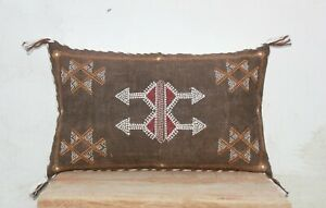 Brown Color 12 X 20 Cactus Silk Inspired Handmade Linen Pillow Cover