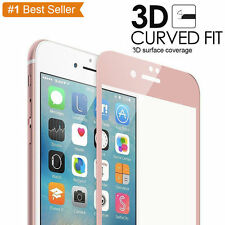 Rose Gold Full Cover Tempered Glass 3D Curved Screen Protector iPhone 6S Plus