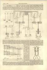 1890 Electrical Engineering Edinburgh Dynamos Lighting Brush Lamps