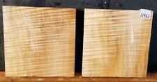 FIGURED BIG LEAF MAPLE LATHE WOOD 11962 TURNING 2 PCS, BOWL BLANKs 7.25 x 2.5