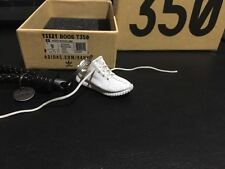 A Pair of 3D Keyring with BV leather keychain Yeezy Boost 350 V2 Cream White