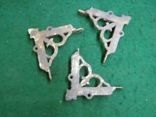 3 Antique Cast Iron Victorian Screen Door Corner Brackets Decorative #2743-13