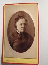 Parigi - 1878-signora Balet in età alto con cappa-Portrait/CDV