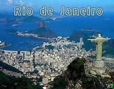 Brazil  RIO #2 coast with Christ Statue - Fridge Magnet