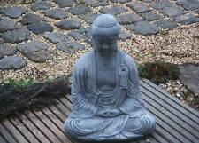 Buddha Skulptur Steinfigur für Garten Deko-Steinguss
