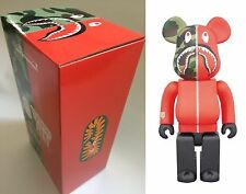 Medicom Toy Be@rbrick Bearbrick BAPE CAMO SHARK Red 400% WGM ape 2017