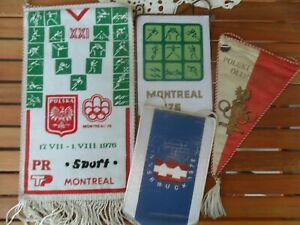 Olympic Games pennants RARE