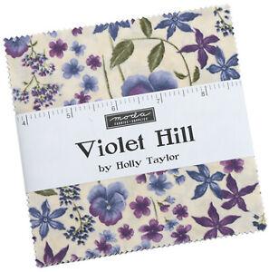 "Violet Hill Moda Charm Pack 42 100% Cotton 5"" Precut Fabric Quilt Squares"