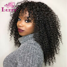 Kinky Curly 5*5 Silk Base Full Lace Wigs Human Hair Silk Top Lace Front Wigs
