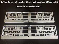 2x Top Kennzeichenhalter Chrom Voll-verchromt Hochglanz Made in EU 52x11cm (39