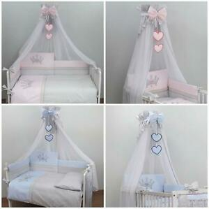 Mosquito Netting Canopy Drape Fits Crib, Moses Basket - Crown