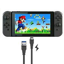 1M Cable de carga USB Adaptador De Plomo Para Nintendo conmutador consola de juegos NEGRO