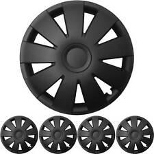 "4x Premium Diseño Tapacubos 15 Pulgadas ""Nefryt"" en Negro"