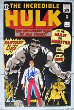 STAN LEE SIGNED THE INCREDIBLE  HULK #1 11x17 PHOTO DC/COA (MARVEL) COMIC IMAGE