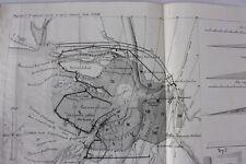 Petersburg Peterburg city, old plan map Russia 1858