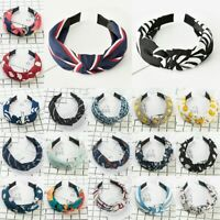 Womens Summer Headband Twist Hairband Bow Knot Cross Tie Headwrap Hair Band Hoop