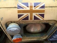 2X  ARMY DESERT UNION JACK FLAG STICKERS WOLF WMIK SNATCH DEFENDER LAND ROVER