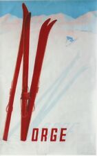 Original vintage poster NORWAY NORGE DOWNHILL SKIING 1957