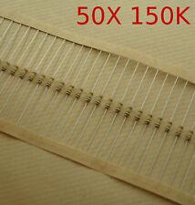 Resistencia 1/4 W 5% 50 unidades 150K ohmios