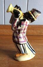 Miniature ceramic Drioli bottle Jazz band Trumpet player🎺 🇮🇹