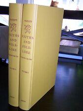 Myths and Folklore of the British Isles-Hazlitt-2 vols. Important British Work-