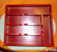 MIKASA Wood FLATWARE TRAY Divided Storage Cutlery Utensils