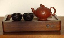 Kleines Massivholz-Teebrett mit Ablaufschlauch für Teezeremonie