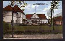115079 AK Kandrzin O.-Schlesien 1922 Bahnhof Empfangsgebäude Straßenansicht