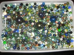 5000 GRAMS JOB LOT COLLECTION OF OLD VINTAGE MARBLE DIFFERENT SIZES