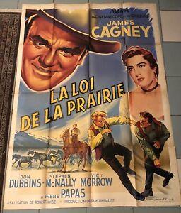 WESTERN AFFICHICHE Roger SOUBIE LA LOI DE LA PRAIRIE ROBERT WISE. James Cagney.