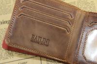 Mens Card Clutch Purse Money Clip Credit Cad Holder Leather Wallet Pockets EY