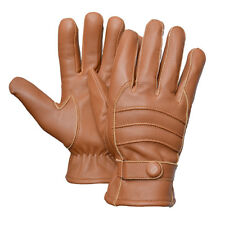 Brown MENS Boys Unisex DRIVING Dress GLOVES SOFT GENUINE REAL LAMBSKIN LEATHER