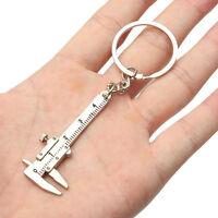 Portable Mini Vernier Caliper Tool Pendant Slider Slides Keyring Key Chain 10CM