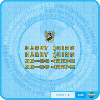 Harry Quinn Bicycle Decals Transfers Stickers - Gold With Black Key - Set 2