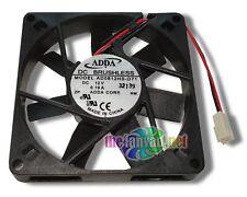 "Adda 80mm x 15mm Slim 12 Volt Fan w/ 2 Pin Connector AD0812HS-D71 3"" Wires"