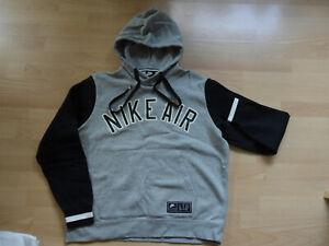 Hoodie Pullover Nike Air grau schwarz  L Herren Jungs Sweatshirt Kapuze Neu
