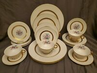 THEODORE HAVILAND NEW YORK c1940's GAINSBOROUGH 20 PC SRVC FOR 4 DINNERWARE SET