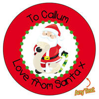 48 x Personalised Christmas Stickers Santa Father Christmas Present Labels -1101