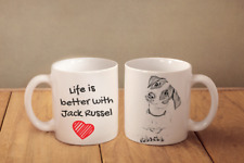 """Jack Russell - ceramic cup, mug """"Life is better"""",UK"""