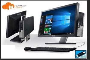 """Dell Optiplex 780 All In One USFF INTEL 2 DUO 4GB RAM 250GB Win 10 w/ 19"""" LCD"""