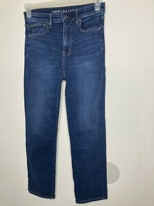 American Eagle Next Level Stretch Size 8 Regular Dark Wash Denim Jeans