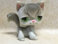 Littlest Pet Shop Lps #20 Angora Kitty Cat Gray Green Dot Eyes Preowned