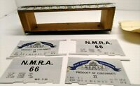 """Vintage O Scale All-Nation Line, N.M.R.A """"66""""  40' Steel Automobile Box Car, Kit"""