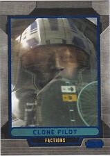STAR WARS GALACTIC FILES SERIES 1 BLUE PARALLEL #327 CLONE PILOT 108/350