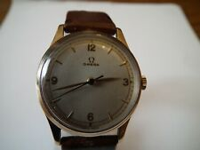 MEN'S OMEGA 9 CT GOLD WATCH 1950S CAL. 283